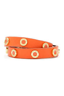 TORY BURCH Cole enamel double-wrap bracelet