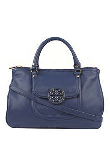 TORY BURCH Amanda leather double-zip tote