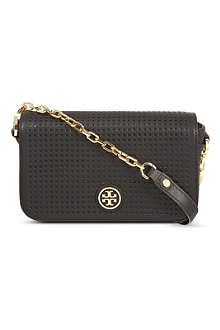 TORY BURCH Robinson perforated leather cross-body bag