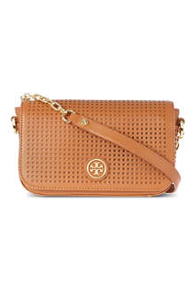 TORY BURCH Robinson perforated chain shoulder bag
