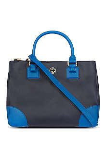 TORY BURCH Robinson saffiano leather double-zip tote