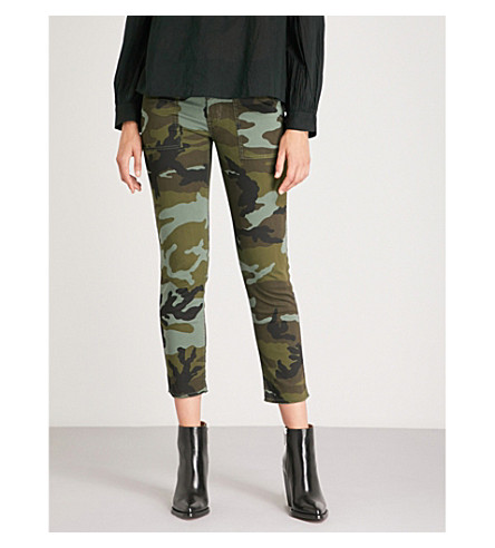 caído NILI estampado Pantalón Jenna LOTAN pitillo con camuflaje verde de wwBFxqHTnp