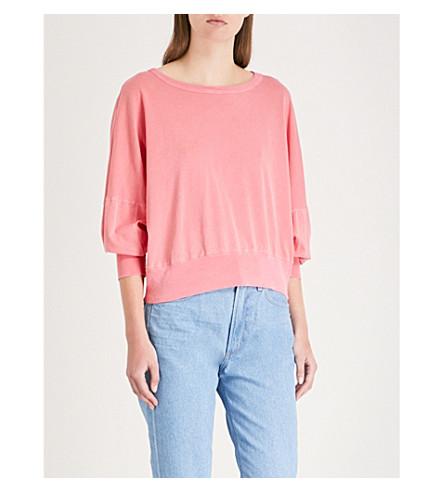 STATESIDE Slub cotton-jersey T-shirt (Scarlet