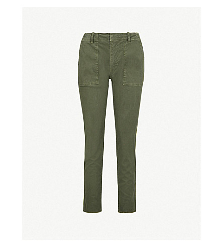 NILI LOTAN Jenna side-striped tapered jeans (Loden