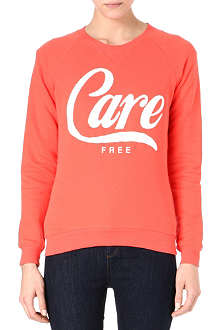 ZOE KARSSEN Care free cotton-blend sweatshirt