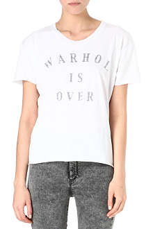ZOE KARSSEN Warhol is over cotton-blend t-shirt