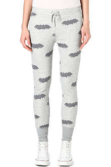 ZOE KARSSEN Bat printed jogging trousers