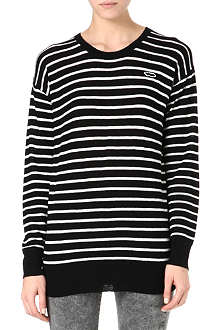 ZOE KARSSEN Cashmere-blend striped jumper