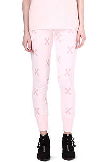 ZOE KARSSEN Bone-print jogging bottoms