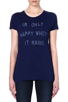 ZOE KARSSEN Only Happy When it Rains t-shirt