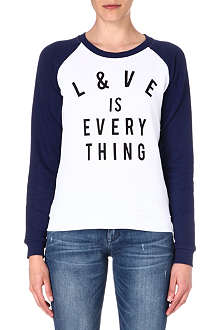 ZOE KARSSEN Love is Everything jersey top