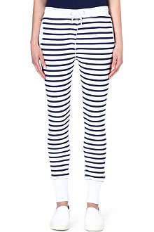 ZOE KARSSEN Striped jersey jogging bottoms