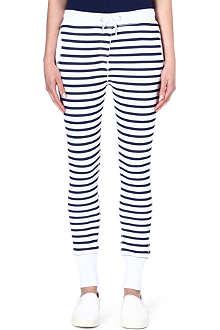 ZOE KARSSEN Striped jersey jogging bottoms