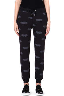 ZOE KARSSEN Bat-print jogging bottoms