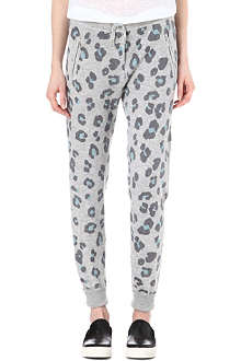 ZOE KARSSEN Wool-blend leopard jogging bottoms