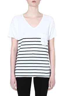 ZOE KARSSEN V-neck stripe t-shirt