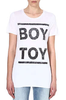 ZOE KARSSEN Boy Toy jersey t-shirt