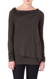 DRKSHDW Long-sleeved draped top