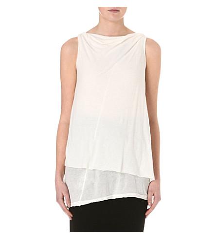 DRKSHDW Toga cotton-jersey top (Milk