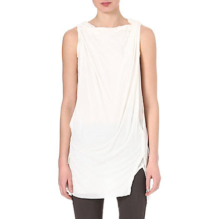 DRKSHDW Sleeveless toga top (Milk