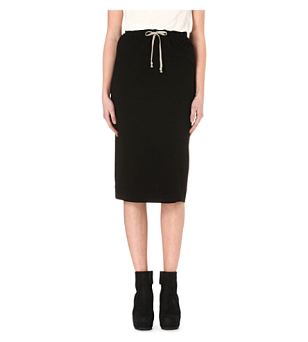DRKSHDW Pillar mid-length skirt (Black