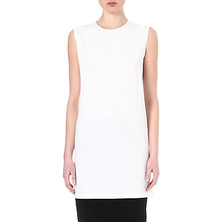 DRKSHDW Column sleeveless tunic (Milk