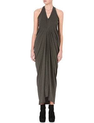 DRKSHDW V-neck draped maxi dress