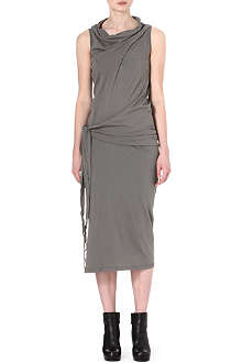 DRKSHDW Tie-side jersey dress