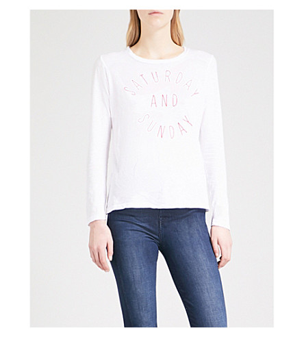 SUNDRY Weekend cotton-jersey top (White