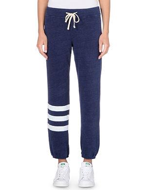 SUNDRY Striped jersey jogging bottoms