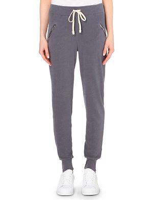 SUNDRY Zip-pocket jersey jogging bottoms