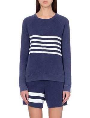 SUNDRY Striped jersey sweatshirt
