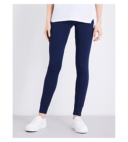 SUNDRY Skinny mid-rise jersey jogging bottoms (Ink