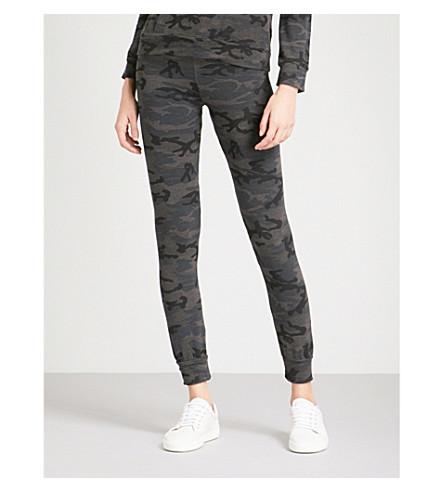 SUNDRY Camouflage-print skinny jersey jogging bottoms (Charcoal