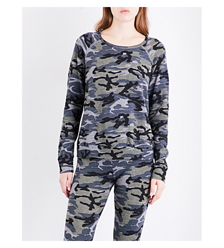 3003804 Camo-print jersey sweatshirt (Heather+grey