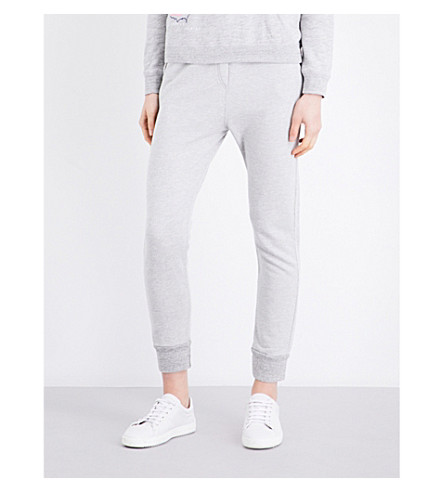 SUNDRY Skinny high-rise cotton-blend jogging bottoms (Heather+grey