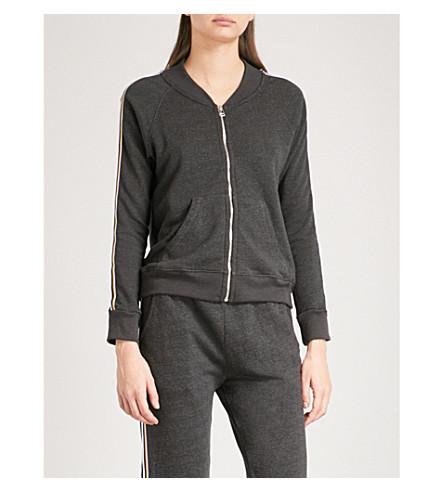 SUNDRY Striped cotton-blend track jacket (Black