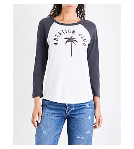 SUNDRY Vacation Club cotton-jersey T-shirt (Black/white