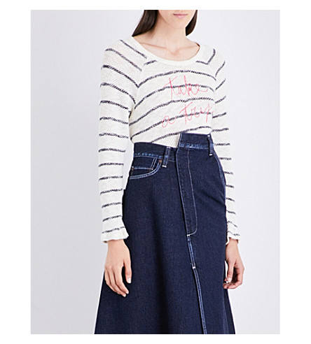SUNDRY Take a Trip knitted sweater (Natural