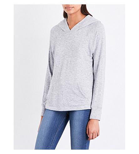 SUNDRY Open-side jersey hoody (Heather+grey