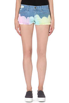 WILDFOX Ibize tie-dyed denim shorts