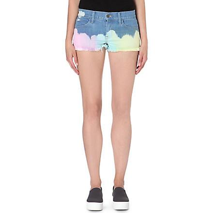 WILDFOX Ibize tie-dyed denim shorts (Wanderlust
