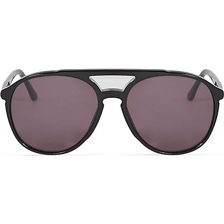 WILDFOX Amelia aviator sunglasses (Black/grey sun