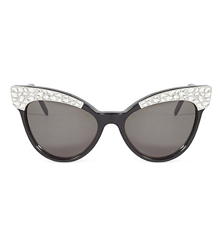 WILDFOX Le Femme 2 embellished sunglasses (Black/g15+sun
