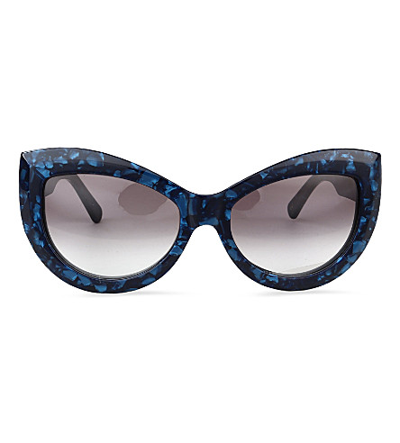 WILDFOX Kitten sunglasses (Indigo/grey gradient
