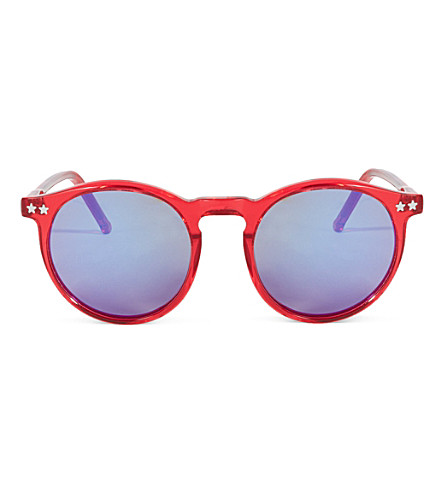 WILDFOX Steff Deluxe sunglasses (Red/blue gold
