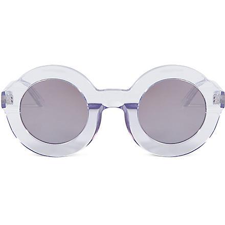 WILDFOX Twiggy deluxe sunglasses (Crystal/silver miror