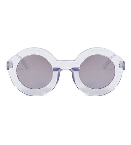 WILDFOX Twiggy deluxe sunglasses (Crystal/silver miror