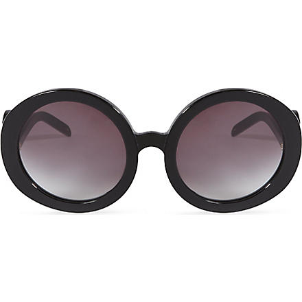 WILDFOX Bianca oversized retro sunglasses (Black/grey sun