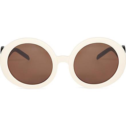 WILDFOX Bianca oversized retro sunglasses (Cream-black/brown